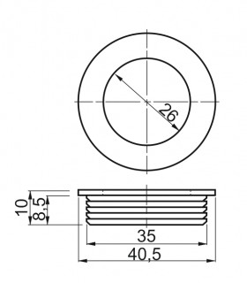 zástrč 100 mm čierna