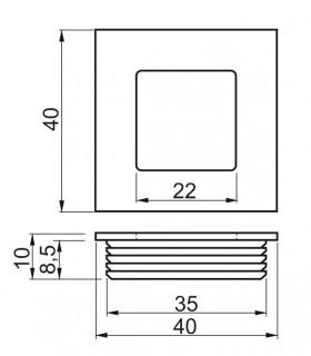 Zástrč nábytková 70mm Ni
