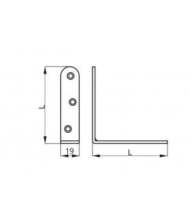 SA-U2 uchytka sanitarna biela pod umývadlo 12x120