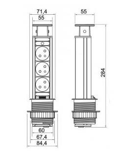 Meter WorkTiger 23 03,0 m, 13 mm, stáčací, ABS