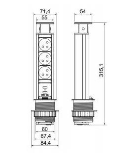 metla s násadou GECO 250 mm, priemyselná, SJ3264C