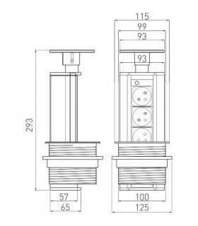 Miesadlo FXF-01 060x400 mm, na maltu