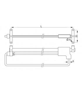 mrieža Koner S80 115x290 mm, G100, bal