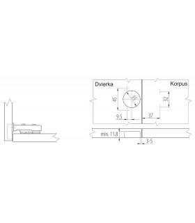 "Racna HONITON RH-A83301 3/8"", s kolieskom"