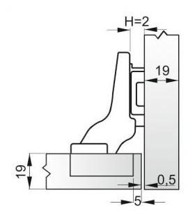 uholník DY-5008B 0300x150mm, Hobby