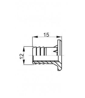 Zamok TESLA V6090 P Zn, 90/63 mm, vložka